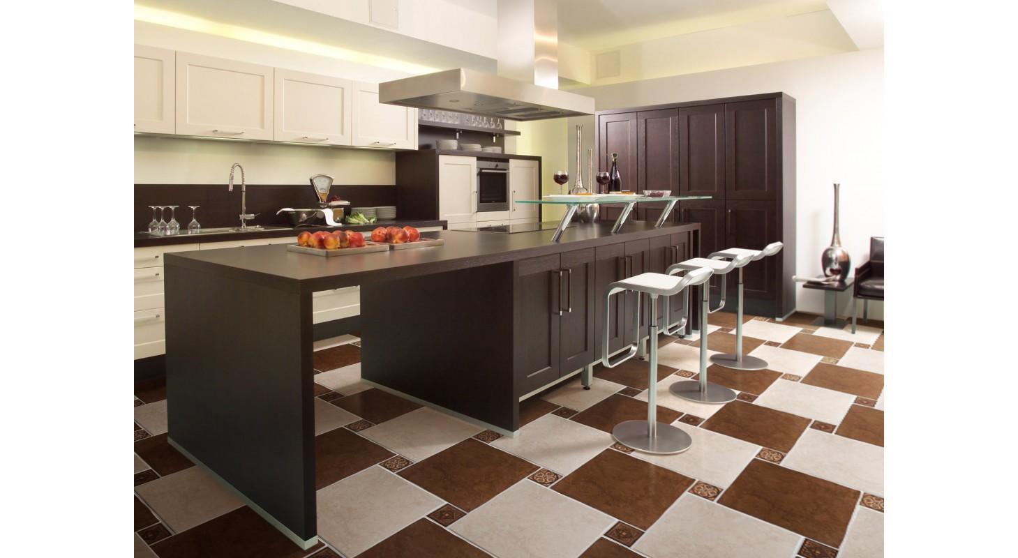 Плитка на пол кухни фото